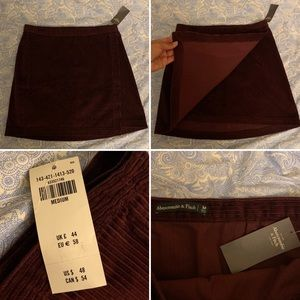 Abercrombie and Fitch Skirt Corduroy Skirt NWT